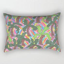 Rainbow Palm Trees Tropical Party Rectangular Pillow
