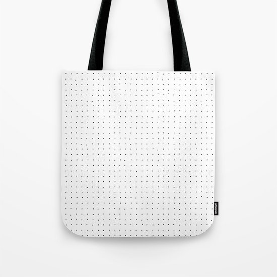 Swiss Dot - White Tote Bag