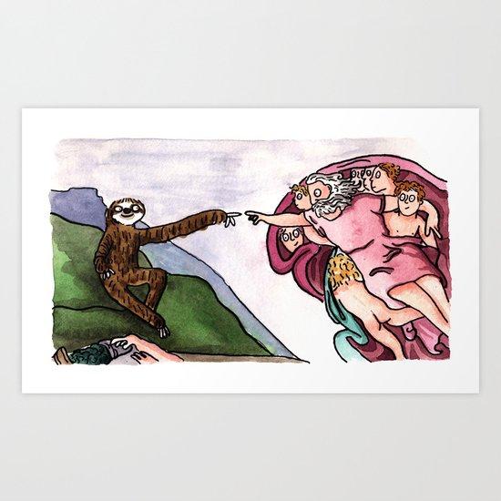 The Creation of Sloth Art Print
