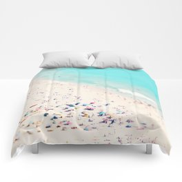 beach love III square Comforters