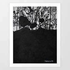 Seeing black and white Art Print