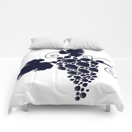 Bunch of grapes Comforters