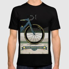 Tour Down Under Bike Race MEDIUM Black Mens Fitted Tee