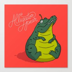 Alligator Pear Canvas Print