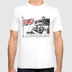 London Reds MEDIUM White Mens Fitted Tee