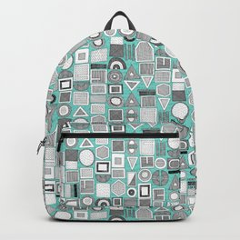 frisson memphis bw aqua Backpack