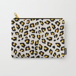 Leopard Print - Mustard Yellow Carry-All Pouch