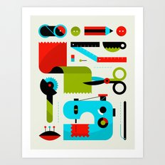 Sewing Kit Art Print