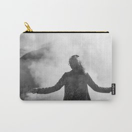 Ghost of Owakudani Mountain in Japan - Black & White Photography Carry-All Pouch