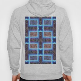 geometric ink blot and smudge ancient techno geek pattern Hoody