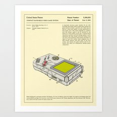 COMPACT HAND-HELD VIDEO GAME SYSTEM Art Print