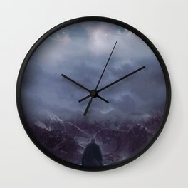 Gazing up into the sky Wall Clock