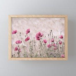 Poppy Pastell Pink Framed Mini Art Print