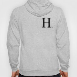 H . - Distressed Initial Hoody