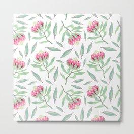 Protea pattern Metal Print
