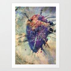 Damaged Heart Art Print