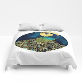 Golden Peacock Comforters