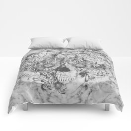 Bookmatched Marble Skull Comforters