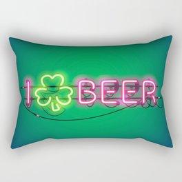 I Like Beer Neon Sign Rectangular Pillow