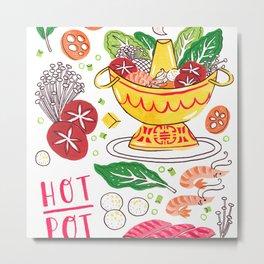 Hot Pot Shabu Shabu Soup Metal Print