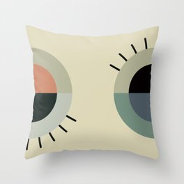 day eye night eye Throw Pillow