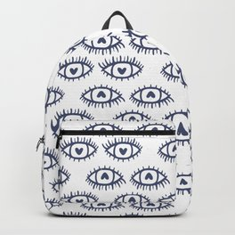 Happy Eyes Pattern Backpack