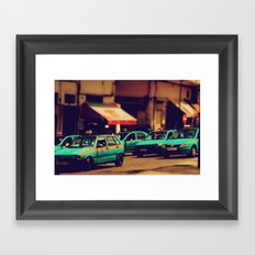 Moroccan taxi Framed Art Print