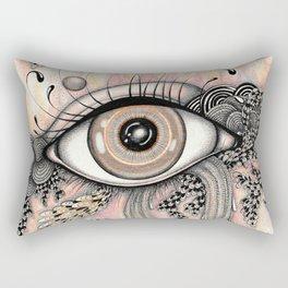 observando la vida Rectangular Pillow