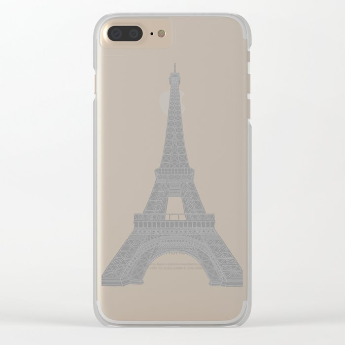 Paris in a Kaleidoscope Clear iPhone Case