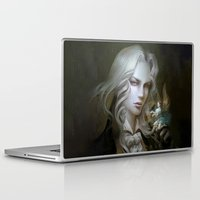 castlevania Laptop & iPad Skins featuring Alucard. Castlevania Symphony of the Night by Nell Fallcard