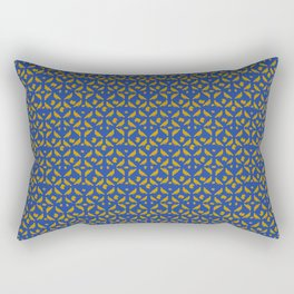 Royal Doves Blue Rectangular Pillow