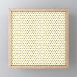 Yellow Delicate Flowers Framed Mini Art Print