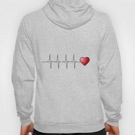 Minimalistic love heart beat design Hoody