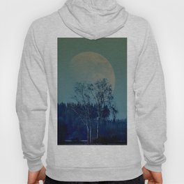 Concept landscape : Moon behind the tree Hoody
