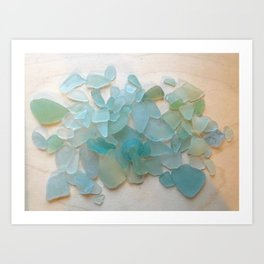 Ocean Hue Sea Glass Art Print
