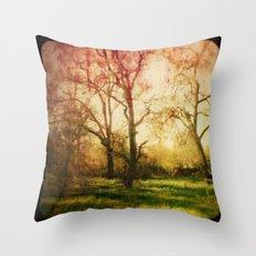 The trees whispered to me Throw Pillow