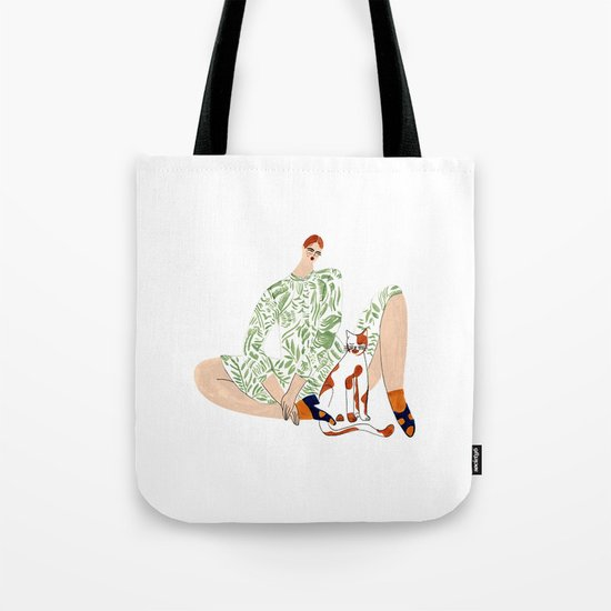 No.6 Gal & ginger kitty Tote Bag