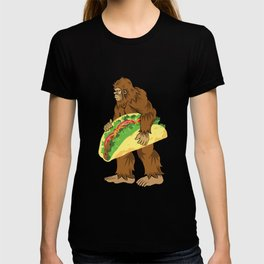 Bigfoot Carrying A Taco Cinco De Mayo design T-shirt