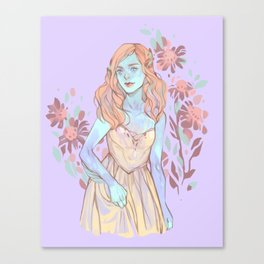 Floral Ghouls - Lorna Canvas Print