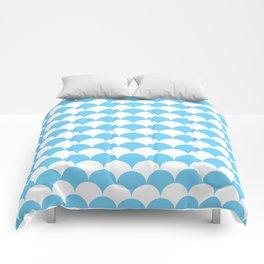 Light Blue Fan Shell Pattern Comforters