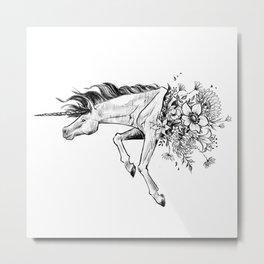 Exploding Unicorn Metal Print