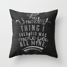 LYRICS - The smartest thing Throw Pillow