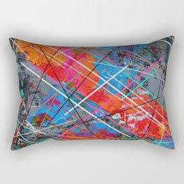 Canvas Abstract Tres Rectangular Pillow