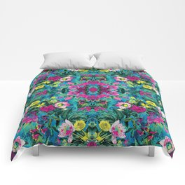 Neon Floral Comforters