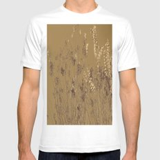 Thin Branches Sepia White Mens Fitted Tee MEDIUM