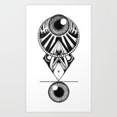 The Balence Eyes Art Print