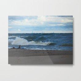 Big Waves on Lake Michigan Metal Print