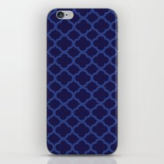 Blue Graphic Flower iPhone & iPod Skin