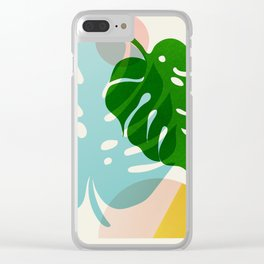 Abstraction_PLANTS_01 Clear iPhone Case