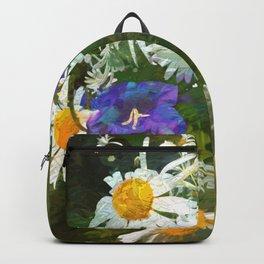 Chamomile and campanula Backpack